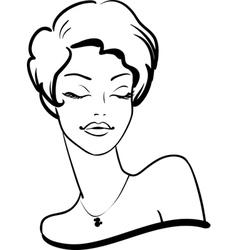 fashion female portrait vector image vector image