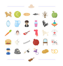 Food animal tool and other web icon in cartoon vector