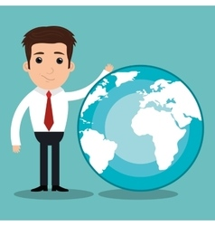 Growth global design vector