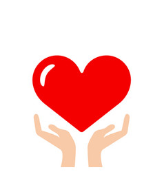 heart in hand icon vector image vector image