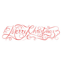 merry christmas 2018 calligraphy inscription vector image vector image
