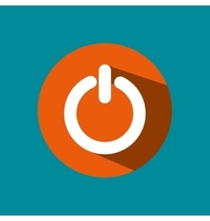 Power button isolated icon vector
