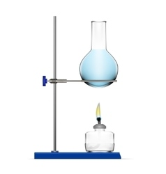Realistic Chemical Laboratory Equipment Glass vector image