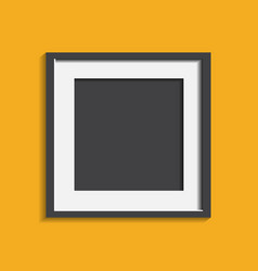 Realistic photo frame isolated on yellow vector