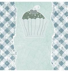 Retro cupcake card vector image vector image