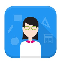 Teacher app icon with long shadow vector