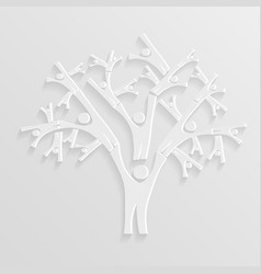 tree of people vector image vector image