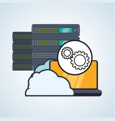 Web hosting design data center icon isolate vector