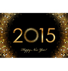 - 2015 Happy New Year glowing background vector image vector image