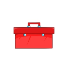 Closed red case icon in cartoon style vector image