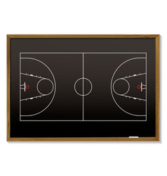 Basketball blackboard vector