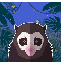 Spectacled bear on the jungle background vector