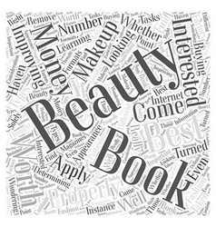 Beauty books are they worth your money word cloud vector