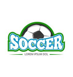 football soccer club logo badge template vector image