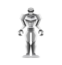 Human robot isolated on white vector