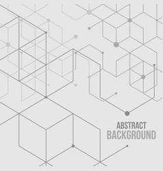 abstract boxes background vector image