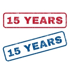15 Years Rubber Stamps vector image vector image