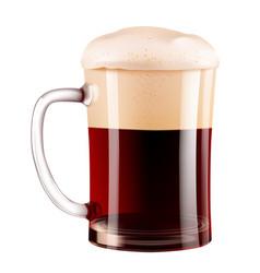 elegant beer glass photo-realistic vector image