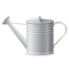 Metal watering can vector
