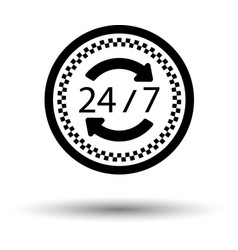 24 hour taxi service icon vector