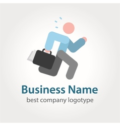 Running businessman icon logotype vector