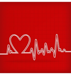 Heart beats cardiogram vector