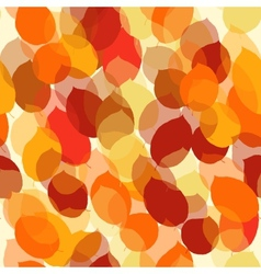 Cute seamless leaf autumn pattern in vector