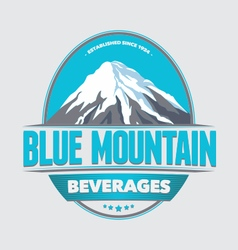 Blue mountain retro badges labels and logo vector