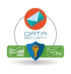 Data security design protect icon data center vector