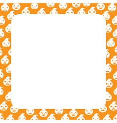 Border with pumpkin vector
