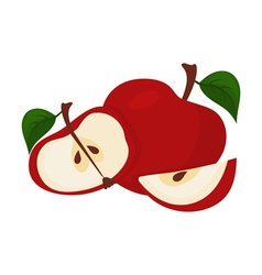 Abstract bright red apple vector