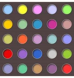 Abstract multicolored holes vector image vector image