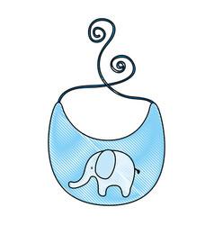 Baby bib with elephant vector