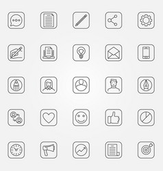 Blog icons set vector