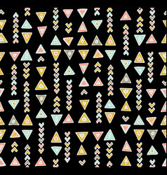 boho chic tribal seamless pattern vector image