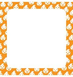 Border with pumpkin vector