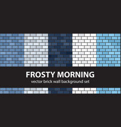 Brick pattern set frosty morning seamless brick vector