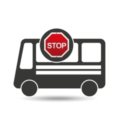 bus side stop road sign design vector image