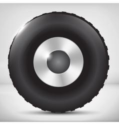 Car wheel vector image vector image