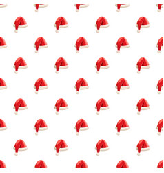 Christmas santa claus hat pattern vector