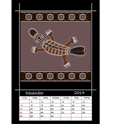 December 2014 - Platypus vector image vector image