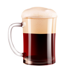 elegant beer glass photo-realistic vector image vector image