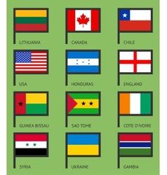 Flags flat set-01 vector