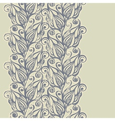Floral design border in vintage style vector image vector image