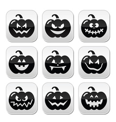 Halloween pumkin buttons set vector