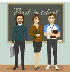 High school teachers vector