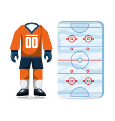 hockey on ice sport game to competition vector image vector image
