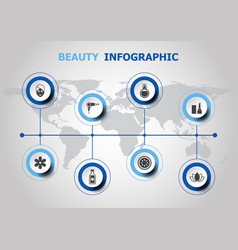 Infographic design with beauty icons vector