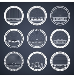 Label templates white vector