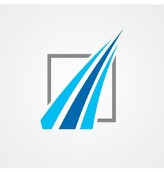 Logo for financial companies vector image vector image